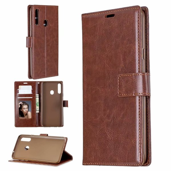 Crazy hor e wallet leather flip phone ca e ca e for am ung a20 a10 a20e a10e note 10 pro a60 m40 a80 a90 a70 a50