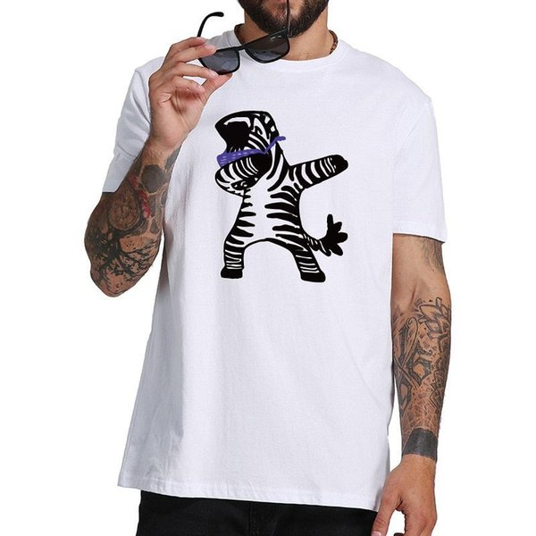 Dabbing Зебра смешные прохладный животных футболка мужчины вентилятор брюки футболка