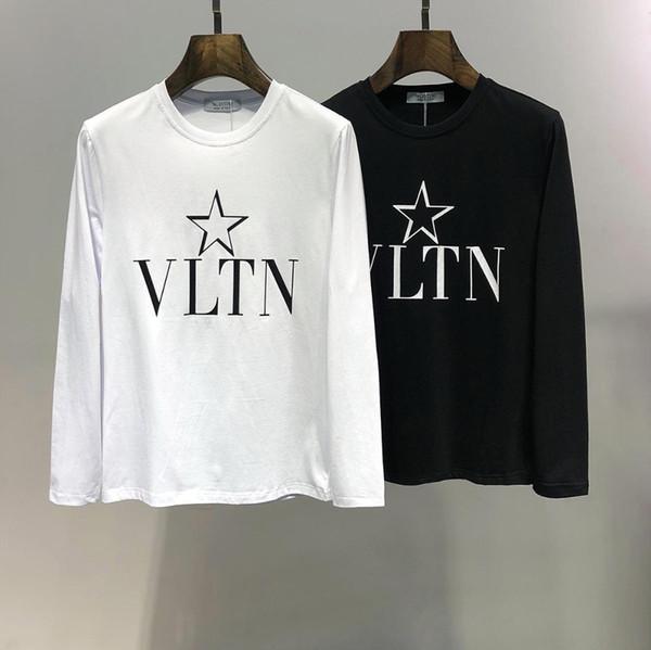 T-Shirt # 5407 a maniche lunghe stampata in cotone di alta qualità del 2019 autunno e inverno