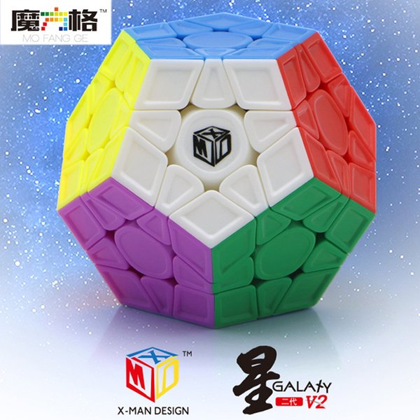 wholesale X-MAN Galaxy V2 Megaminxeds Cube QIYI Mofangge Professional Speed Magic Cubes Neo Magico Cubo Puzzle Cube Toys For Children