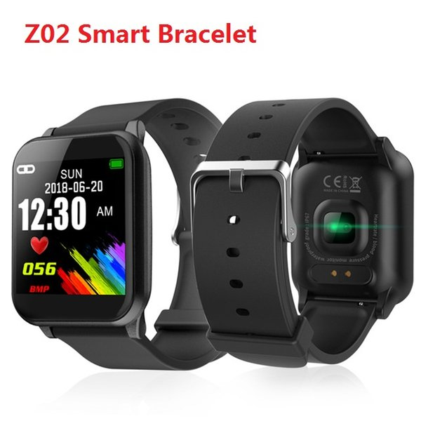 Z02 Smart Bracelet color screen Bluetooth family sharing real-time data Waterproof Sport real-time Heart rate Blood pressure Watch band TWS