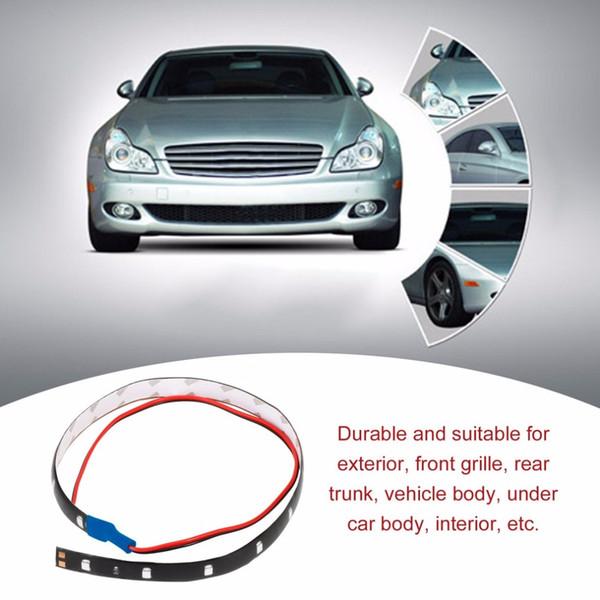 10x 10dc 12v Led Strip Light 60cm 30smd White Led Light Strips Flexible Neon Strip Tape Car Motor Light Lamp Waterproof Car Decoration Super Bright