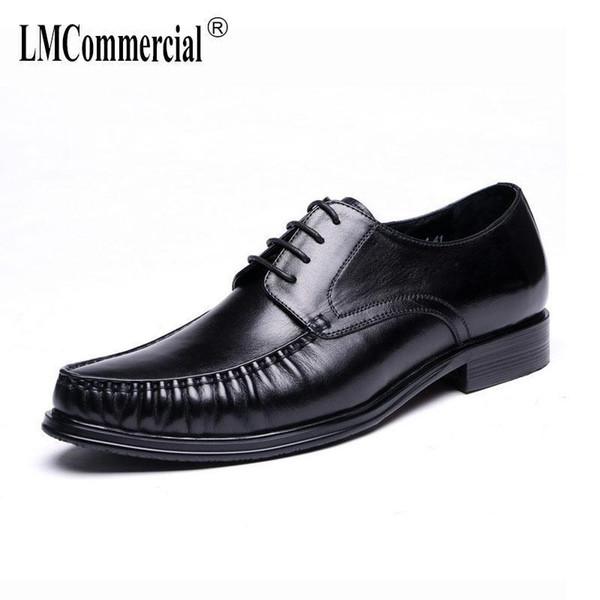 último vendedor caliente diseño de calidad Nuevos objetos Compre Zapatos Para Hombre Negros Traje Calzados Para Hombres Pisos Moda  Zapatos De Cuero Genuino De Alta Calidad Hombres, Con Cordones Zapatos De  ...