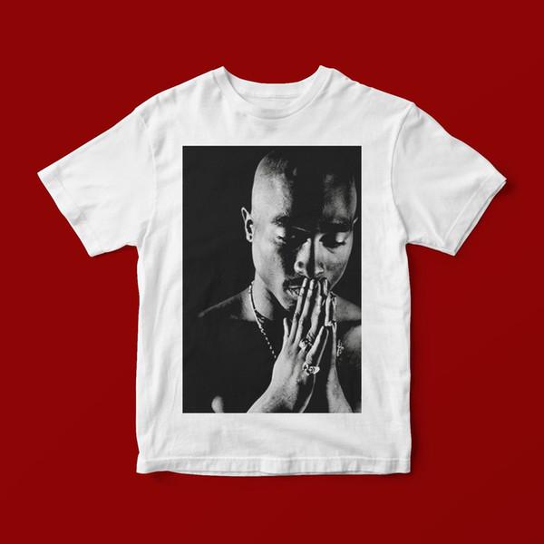 TUPAC PRAYING T-SHIRT UNISEX 339 mens pride dark t-shirt white black grey red trousers tshirt