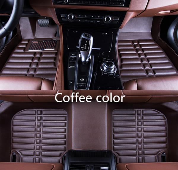 Pour Nissan Tiida 2007-2016 Voiture Tapis de sol Avant Revêtement Arrière Accessoires Antidérapant Étanche Cuir Tapis Auto Luxe berline Pads