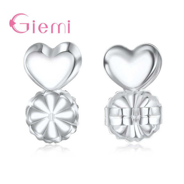 wholesale 50/100 Piece 925 Sterling Silver Earring Backs Support Earring Lifts Lifters Fits All Post Jewelry Accessories for Women