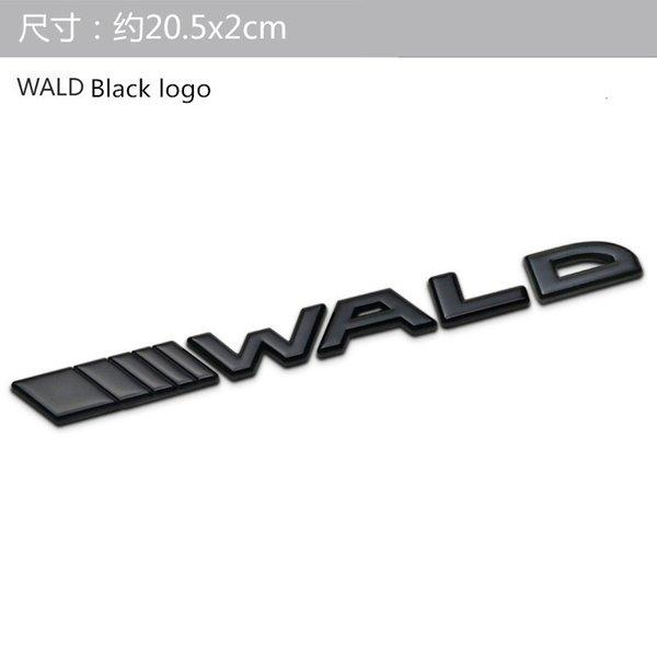 logotipo de wald black