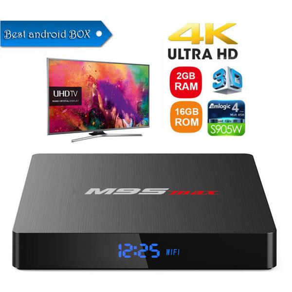 Android Box 2GB 16GB Amlogic S905W Android TV Box M9S MAX MEDIA PLAYER buona qualità spedizione gratuita DHL