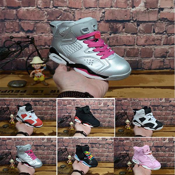 Nike air max jordan 6 retro Venda online Barato Novo 13 Crianças tênis de basquete para Meninos Meninas tênis Crianças Babys 13 s tênis de corrida Tamanho 11C-3Y