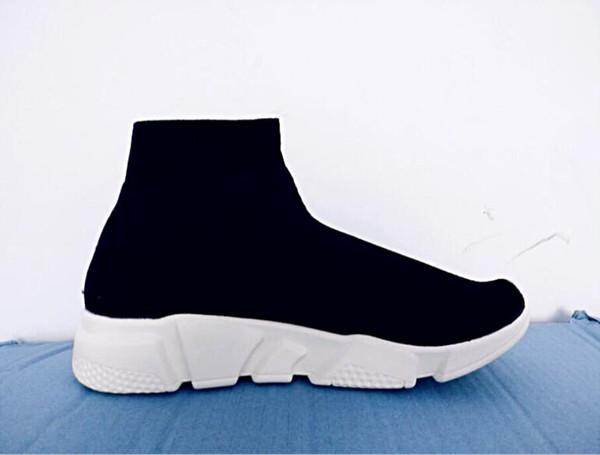 Billig!! Designer Schuhe Schwarz Rot Dreifach Schwarz Flache Mode Socken Frühling, Sommer und Herbst Stiefel Sneaker 36-45