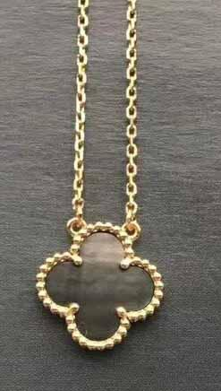 gold+grey necklace