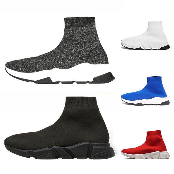 Diseñador Calcetines zapatos moda hombre mujer zapatillas de deporte aumentadas velocidad negro blanco azul para hombre entrenadores casual zapatos deportivos Chaussures 36-45