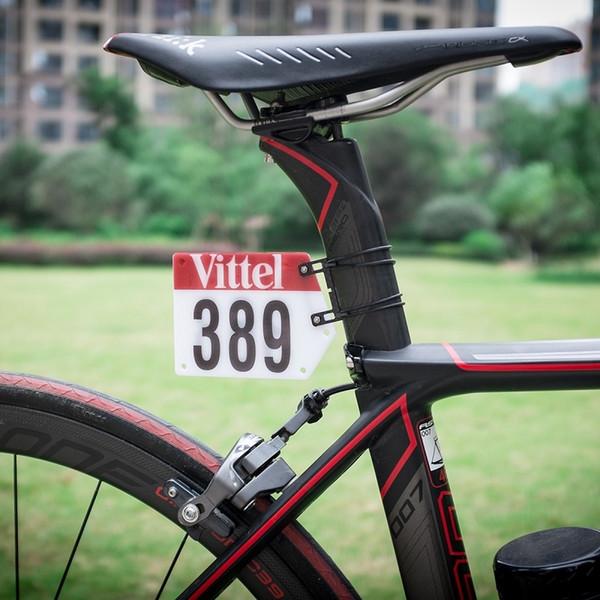 DIY MTB Bisiklet Triatlon Yarış Numarası Plaka Montaj Tutucu Bisiklet Plaka Numarası Tutucu Kartları Braketi Aero Seatpost Vittel Çıkartmaları # 25197