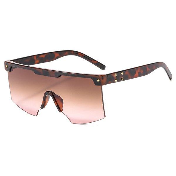 С6 Леопард - Коричневый Розовый