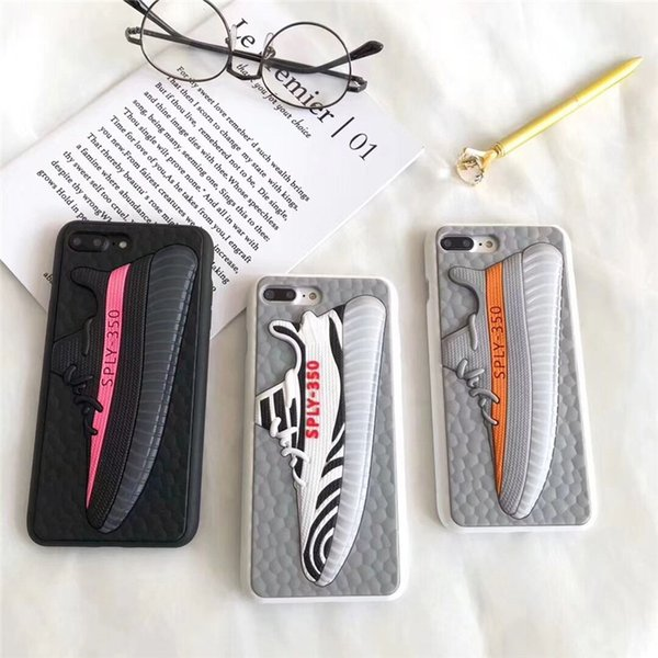 Custodia per telefono di design per scarpe sportive 3D per Iphone XS Max / XR X 8/7/6 Plus Cover posteriore antiscivolo in silicone per smartphone