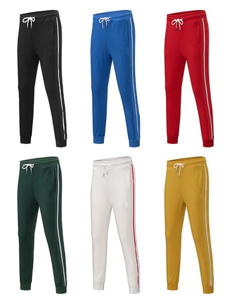 best selling Mens Joggers pants casual trousers Hip-hop UNISEX pants Fashion Sweatpants Stripes Panalled Pencil Jogger Pants Asian size 8color K50-2H