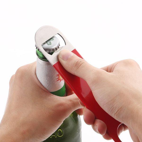 Dayanıklı Bira Şişe Açacağı Paslanmaz Çelik Düz Hız Şişe Kapağı Açacağı Remover Çubuğu Bıçak Mutfak Aletleri