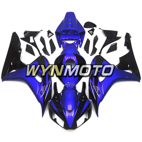 Blau und Schwarz glänzend senkt das komplette Gehäuse für Honda CBR1000RR 2006 2007 06 07 Sportbike-Verkleidungen Spritzguss-Karosserie-Kit