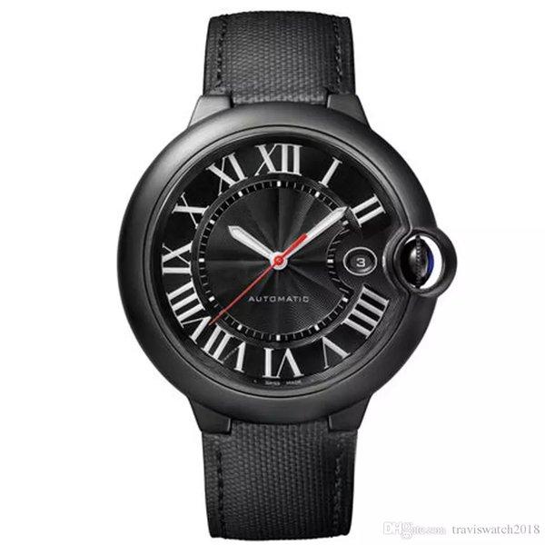 2019 vendita calda orologio da uomo CAR W69012Z4 serie pieno volto nero punto rosso calendario Dial movimento automatico F1 orologio da polso da uomo
