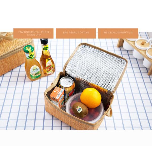 Cooler Bags Scatola pranzo per bambini isolata per sandwich Snack Borsa termica portatile Tote con tracolla termica Oxford