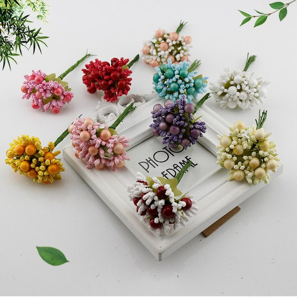 2019 Latest Design 10pcs High Quality Artificial Flowers Stamen Silk Daisy For Wedding Decoration Diy Wreath Gift Scrapbooking Craft Fake Flowers Festive & Party Supplies Home & Garden