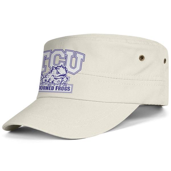 TCU Рогатые Лягушки футбольный логотип Чернокожие мужчины Женщины Военная Подходит Кадетская Шапка Армейская Тактическая Шляпа Шляпа Солнца Студенческая Военная Шляпа Бейсболка
