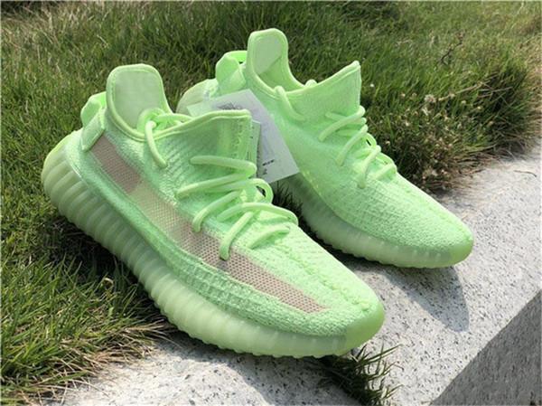 2019 Authentic V2 GID EH5360 Kanye West Man Damen Laufschuhe Schwarz FU9161 Clay Static EF2905 Outdoor-Schuhe Mit Box