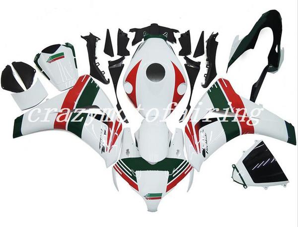 Nuevo ABS Moldeo por inyección Kits de carenados de motocicleta 100% aptos para Honda CBR1000RR 08 09 10 11 2008-2011 conjunto de carrocería Carenado blanco verde rojo
