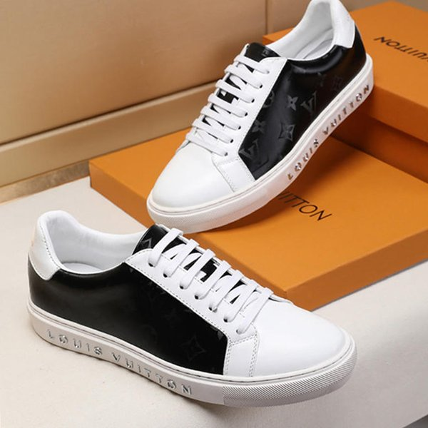 Neue Männer Schuhe Casual Style Platform Sneakers Sportschuhe für Herren mit Origin Box Athletic Flats Atmungsaktive Mode Schuhe 09