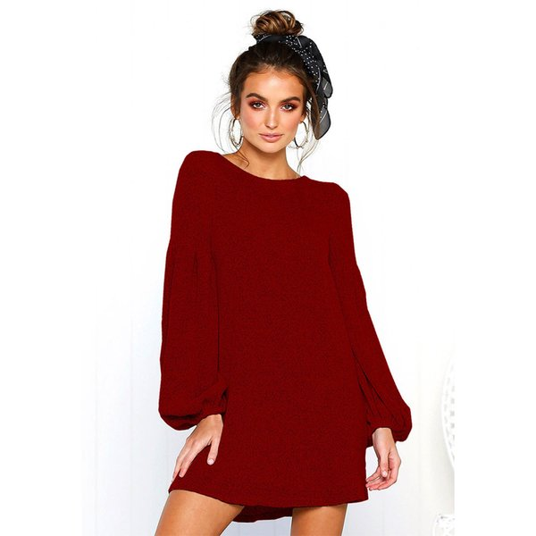 Autumn And Winter New Pattern Long Sleeve Sexy Knitting Sweater Upper Garment