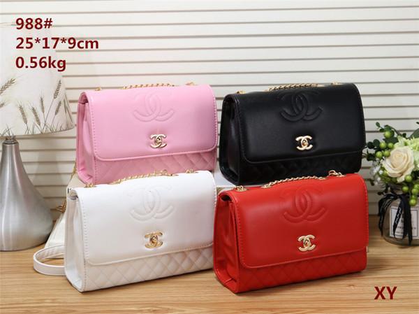 2019 styles Handbag Famous Name Fashion Leather Handbags Women Tote Shoulder Bags Lady Leather Handbags M Bags purse 988