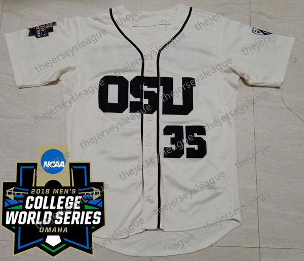 Cream with 2018 CWS Patch