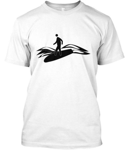 Surfen tabla de surf que practica surf del viento Surfer15 Estándar camiseta unisex
