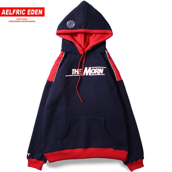 Aelfric Eden Carta Impresso Hip Hop Moletom Com Capuz Skate Sportswear 2018 Quente Com Capuz Pullovers Hoodies de Algodão Camisolas Ca23