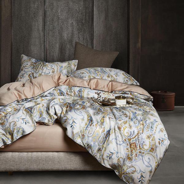 29Color Luxury Egyptian Cotton Bedding Set Queen King size 3d Flamingo Leaf Duvet Cover Bed sheet set Fitted sheet parure