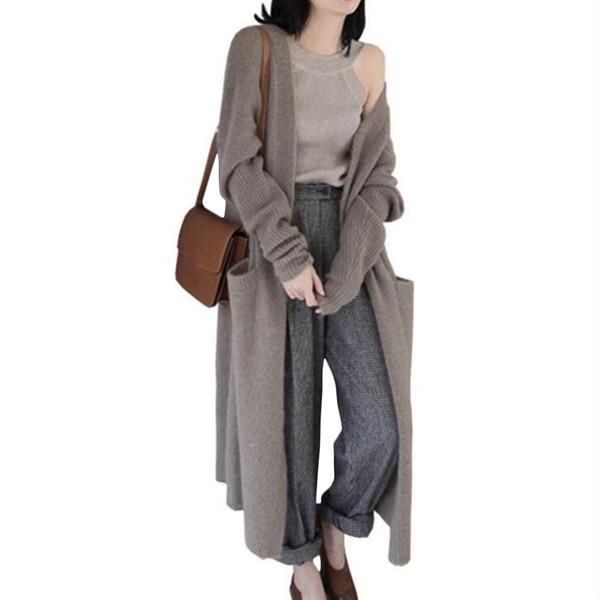 2018 Herbst Und Winter Mode Plus Size Womens Long Sleeve Gestrickte Lose Strickjacke Outwear Mantel Jacke Faule Pullover Heißer