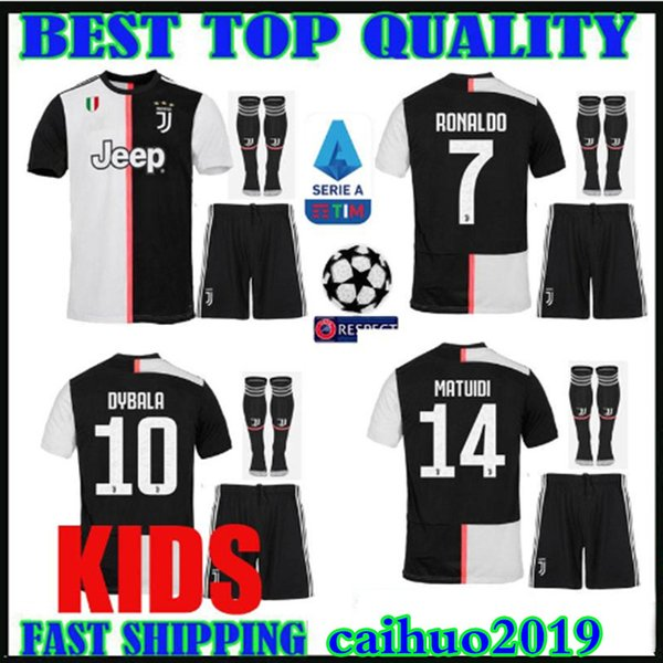 online store ee89e 2050a 2019 New Patch Kids Kit 19 20 RONALDO Juventus Champions League Soccer  Jerseys DYBALA 2019 2020 Home MANDZUKIC Bonucci Child Boys Football Shirts  From ...