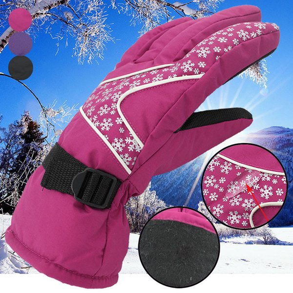 Hot Sale Men Women -30 Temperature Winter Warm Ski Gloves Waterproof Windproof Snowboard Head Sports Gloves Adjustable Strap