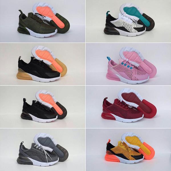Compre Nike Air Max 270 27c 2019 Rainbow 27o Zapatos Para Niños Para Niños Niñas Bebés Niños Botas Blanco Gris Air Zapatos Casuales Eur 28 35 A $62.35