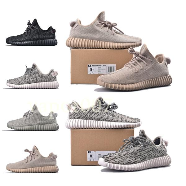 2019 fashion luxury designer women shoes mens v1 Kanye West pirate black Turtle Dove Moonrock Oxford Tan Wave Runner running sneakes