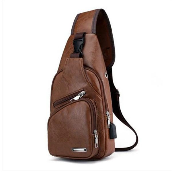 Designer Luxury Shoulder Bag Men's Leather Waist Pack Casual Business Messenger Shoulder Bag Crossbody Handbag Charging Anti-theft Outdoor