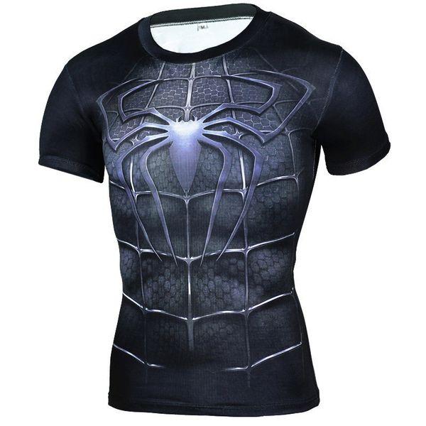 Abbigliamento di marca T Shirt Uomo Superhero Compression Shirt 3d T Shirt Black Panther Tshirt Bodybuilding T-shirt Crossfit