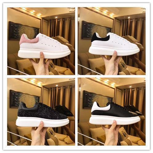 2019 Designer Loveres Casual fitness Shoes New Mens Womens Fashion White Black Leather Platform Low Top Shoes Flat Casual Shoes Lady pink a0