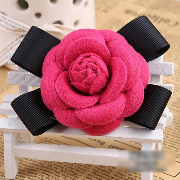 Fushia Wool Bow