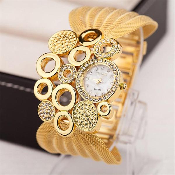 2019 Women's Fashion Bracelet Watches Ladies Designer Gold Watches Top Luxury Steel Band Watch Women Dress For Gift Hot