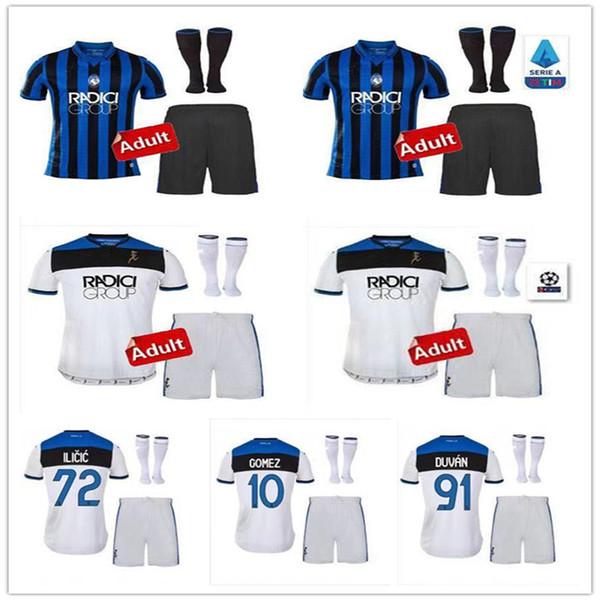 Erwachsene Trikots 19 20 Atalanta Fußballtrikots MURIEL 2019 2020 Atalanta BC Maglia da Calcio DUVAN Fußballtrikot ILICIC PASALIC GOMEZ Fußballtrikot