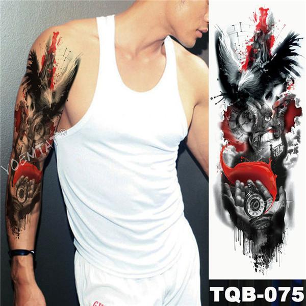 Acheter Grand Bras Manches Tattoo Puissance Maori Totem Tatto Temporaire Etanche Autocollant Guerrier Samourai Ange Crane Hommes Noir Plein Tatoo Sh190729 De 22 41 Du Yizhan06 Dhgate Com