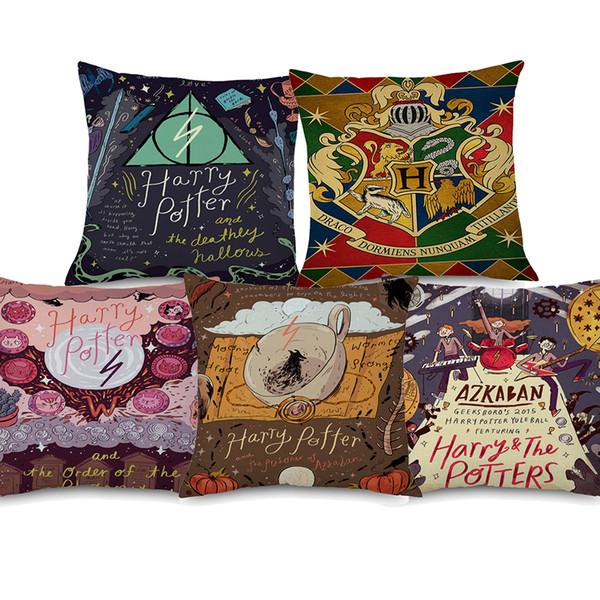 El Foro De Los Cojines.Compre 9 Estilos De Dibujos Animados Harry Potter Fundas De Cojines De Arte Muerte De La Muerte Pintura De Piedra Funda De Cojin Sofa Funda De