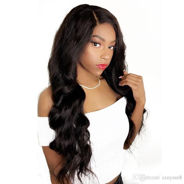 Pré-Pincées sans colle de dentelle perruques de cheveux humains pour les femmes avec bébé cheveux corps brésilien vague perruque Blanchis Nœuds non Remy