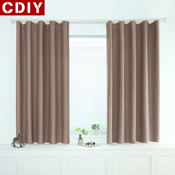 2019 CDIY Modern Short Curtains Window Kitchen Blackout Curtains For Living  Room Bedroom Soild Treatments For Door Balcony From Bright689, $37.15 | ...